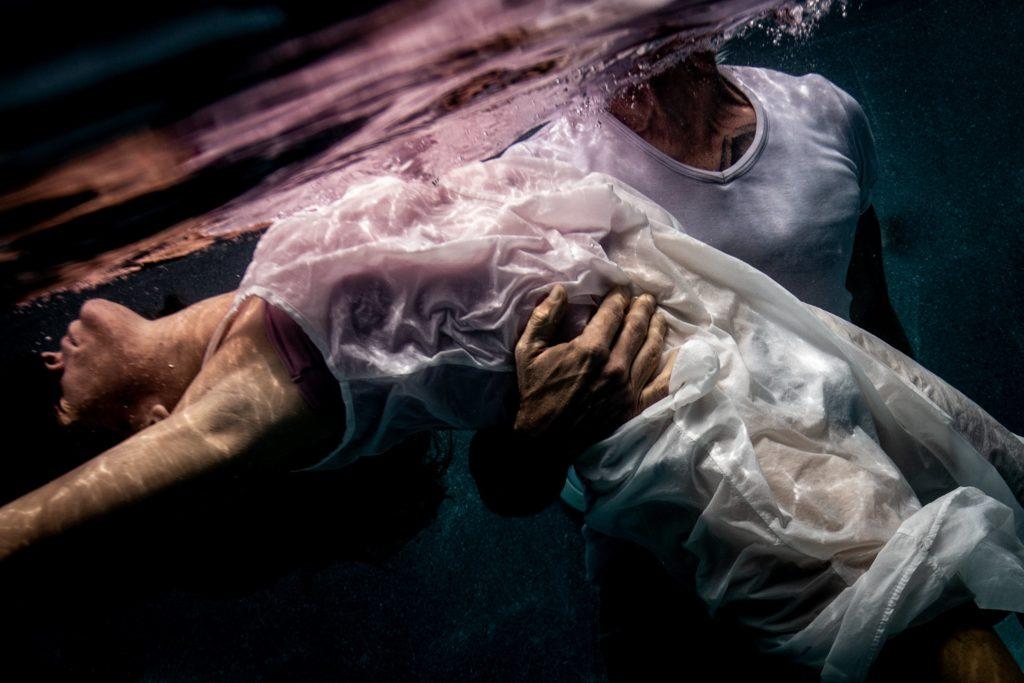 Photographie aquatique underwater couple ile réunion