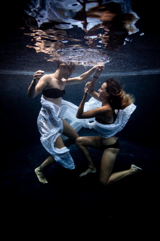 photographie couple aquatique underwater ile réunion