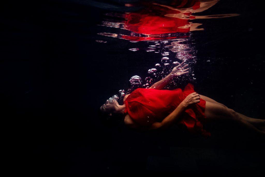 photographe portrait sous l'eau aquatique