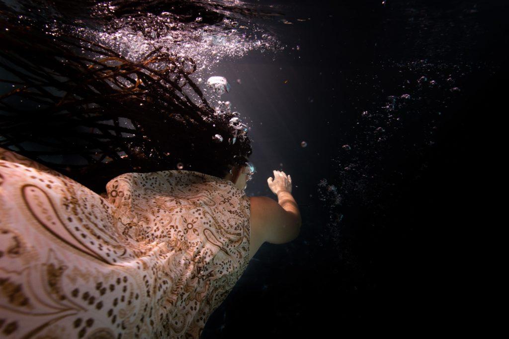 portrait sous l'eau