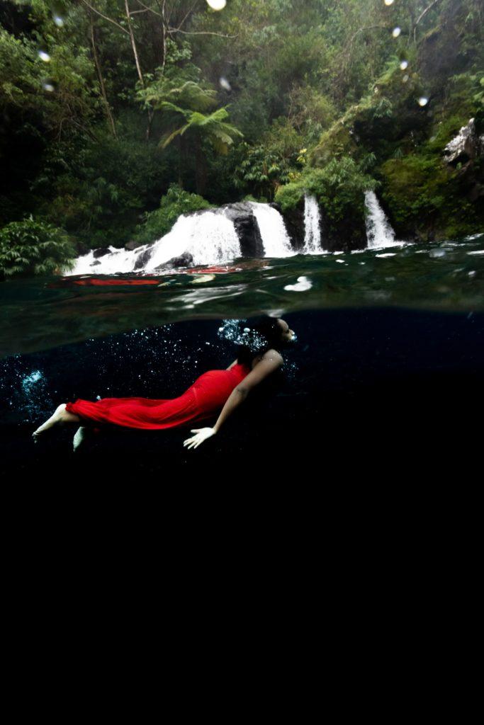 Portrait underwater