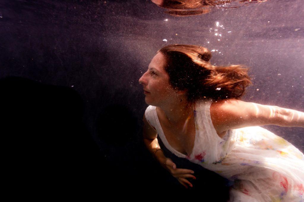Portrait dans l'eau